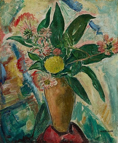 still life with vase and flowers by alfred henry maurer