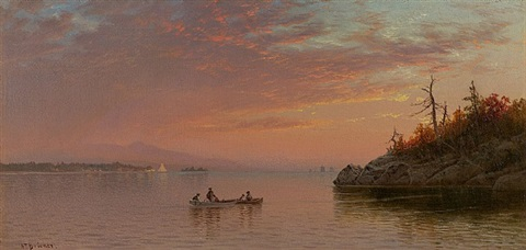sunset by alfred thompson bricher