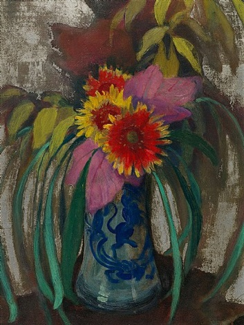 gaillardias in a chinese vase by edward steichen