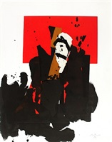 the red and black no. 48 by robert motherwell