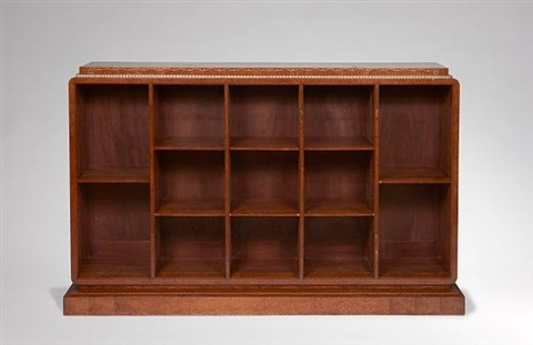 bibliothèque, modèle 'davène' (variante) / bookshelf variant of the 'davene' model by émile jacques ruhlmann