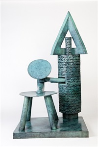 poet and chair iii by parviz tanavoli