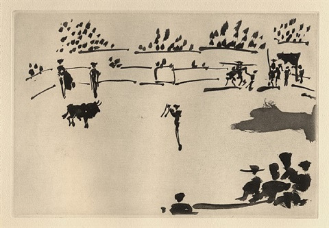 provoking with banderillas by pablo picasso