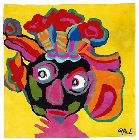 tapis carre by karel appel