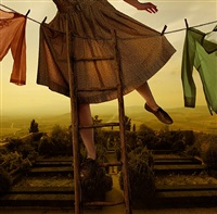 pennants over pienza by tom chambers