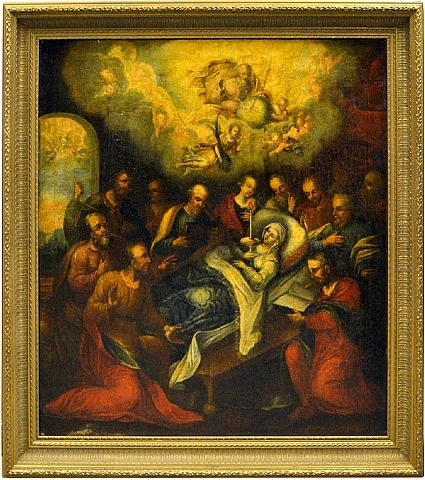 death of the virgin by abraham bloemaert