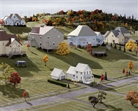 landscape with houses (dutchess county, ny) #8 by james casebere