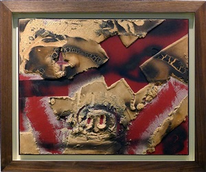 materia sobre vernell by antoni tàpies