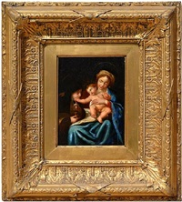 the madonna and child with saint clare by carlo dolci