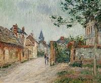 la rue de village, saint-cyr-du-vaudreuil by gustave loiseau