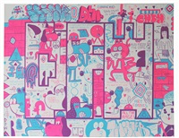 dfw screen print no. 1 by barry mcgee