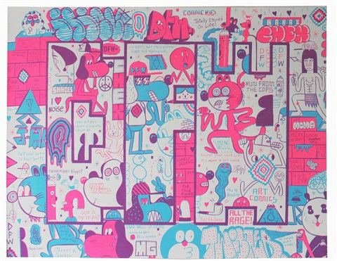 dfw screen print no 1 by barry mcgee