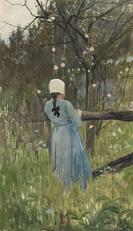 jeune paysanne à grez-sur-loing by louis welden hawkins