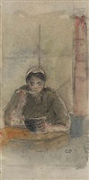 paysanne mangeant sa soupe by camille pissarro