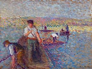 pêcheurs sur la seine à herblay by maximilien luce