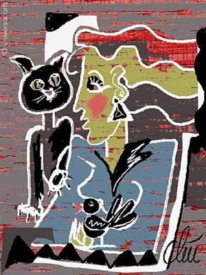 schwarzer kater / black tom-cat by jacqueline ditt