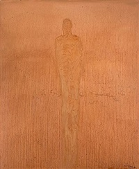 standing figure by nathan oliveira