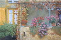 autumn balcony, provence by nicholas verrall