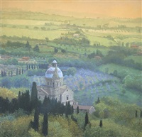 looking down on the church of san biagio by nicholas verrall