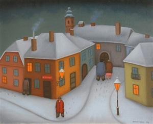 wintertime in zagreb by branko bahunek