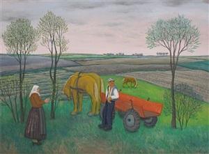 working in the fields by franjo mraz