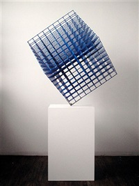 multicolored cube by alois kronschlaeger