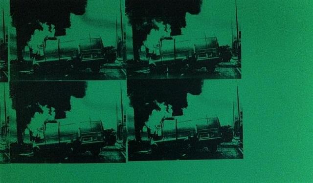 transit disaster green by gavin turk