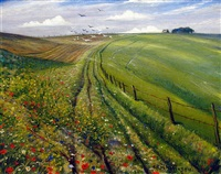 on the downs by christopher richard wynne nevinson