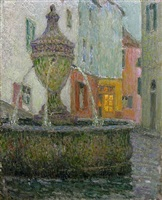 la fontaine, saint-paul de vence by henri le sidaner