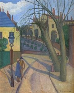 a street in hampstead by stanislawa de karlowska