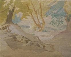 woodland landscape by thérèse lessore