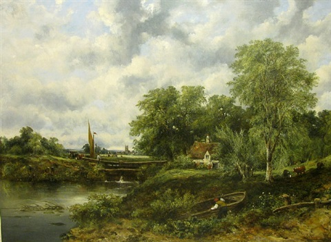 dedham lock by frederick waters watts