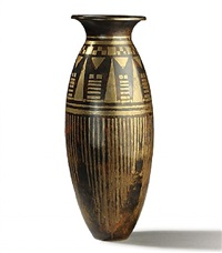 baluster dinanderie vase by jean dunand