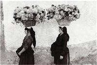 femmes aux fleurs, portugal (women with flowers) by edouard boubat