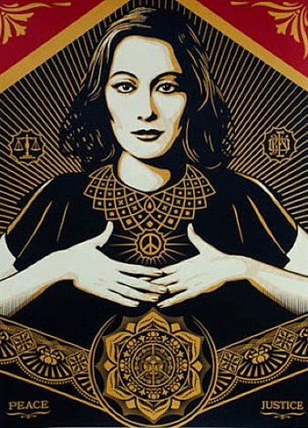 peace & justice by shepard fairey
