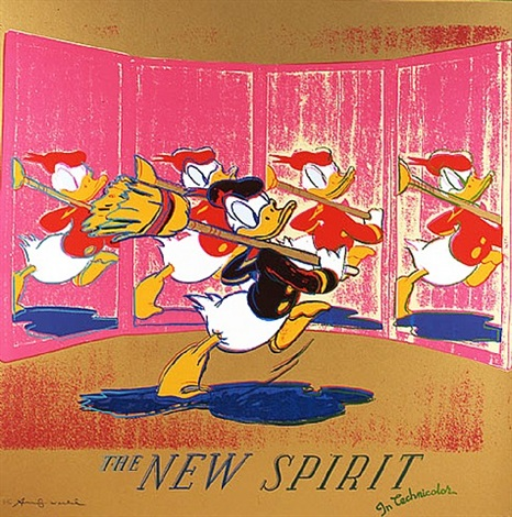 ads: the new spirit (donald duck) fs ii.357 by andy warhol