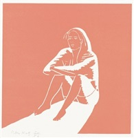 """kym (from """"lincolnville labor day"""") by alex katz"""