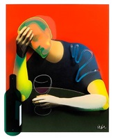 the wine drinker (dimensional edition) by adam neate