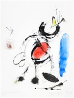 study for l'oiseau migrateur v, study for the migratory bird v by joan miró