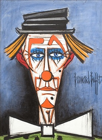 clown au chapeau claque by bernard buffet