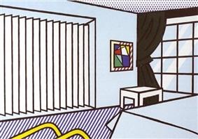 bedroom from interior series by roy lichtenstein