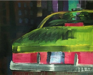 2 men in a cab by rainer fetting