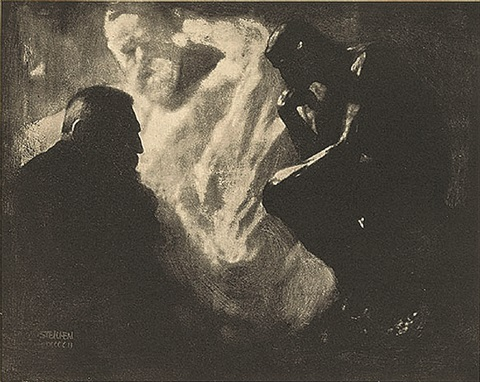 rodin-le penseur, from camera work xi by edward steichen