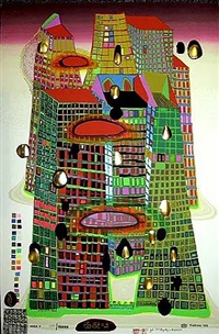 good morning city - bleeding town by friedensreich hundertwasser