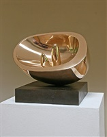 oval with two forms by barbara hepworth