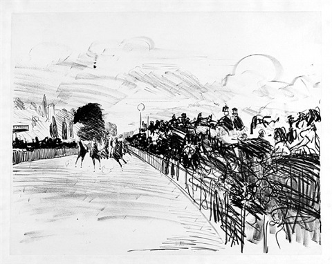 les courses a longchamps– the races at longchamps by édouard manet