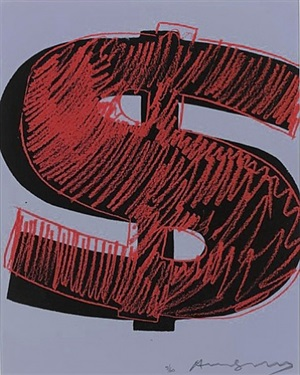 dollar sign 1 by andy warhol