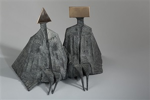 sitting couple by lynn chadwick