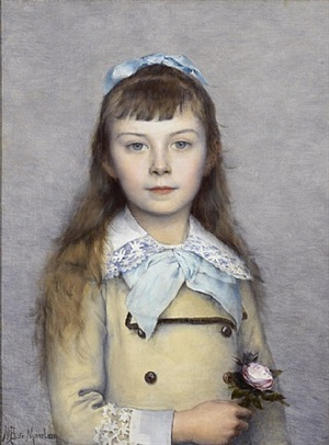 portrait of a young girl by louis maurice boutet de monvel