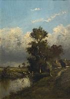 normandy landscape by jules dupré